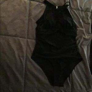 Black one piece  swim suit.